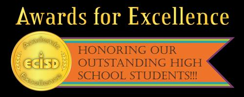 Color image of Awards for Excellence banner