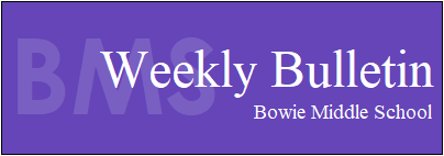 Bowie Weekly Bulletin