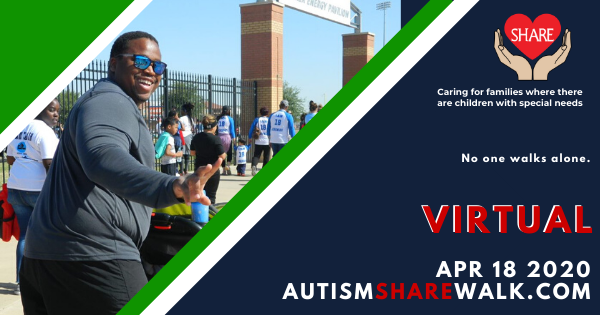 Flyer info on the Autism Share Walk