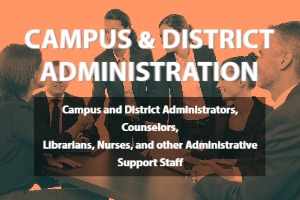Campus and District Administration Campus and District Administrators, Counselors, Librarians, Nurses