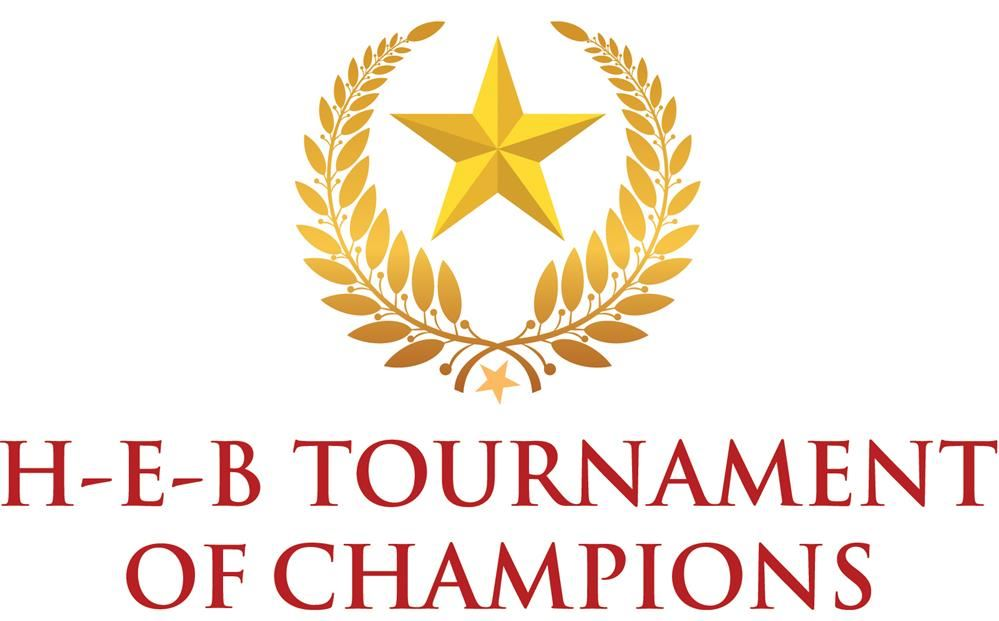 HEB Tournament of Champions logo; a gold star surrounded by gold wings