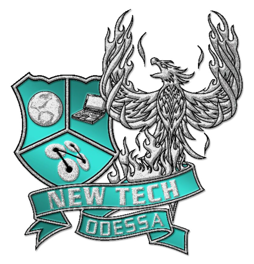 NTO's crest with a Phoenix surrounded by a ribbon