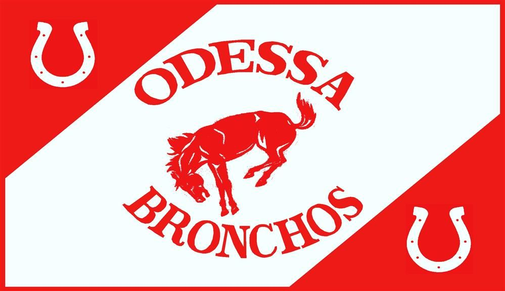 OHS banner with a bucking broncho in the middle and two horseshoes in the corners